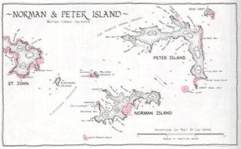 Карта острова Сундук мертвеца
